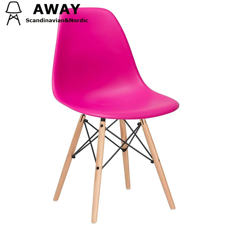 DSW CHAIR ROSE RED