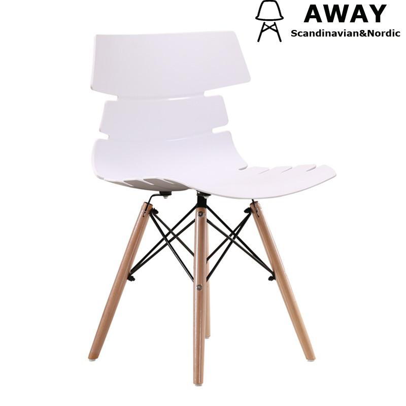 Scandinavian chair contemporary pp seat wooden legs white