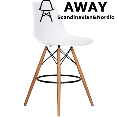 EAMES DSW BAR STOOL WHITE