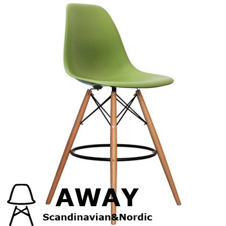 EAMES DSW BAR STOOL green
