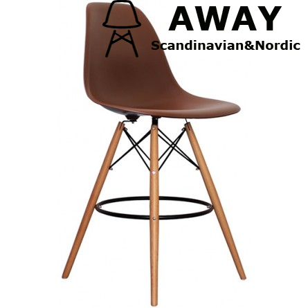 EAMES DSW BAR STOOL coffee color
