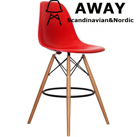 EAMES DSW BAR STOOL red