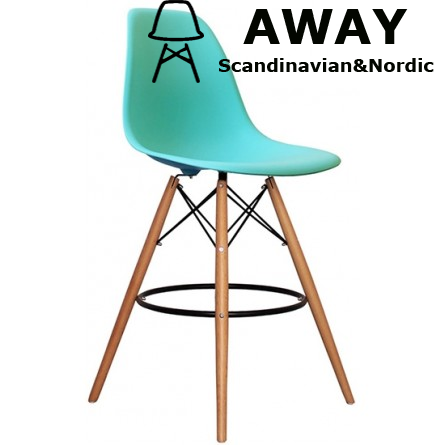 EAMES DSW BAR STOOL pearl blue