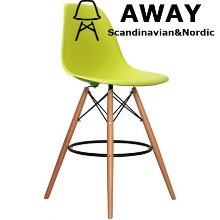 EAMES DSW BAR STOOL lime