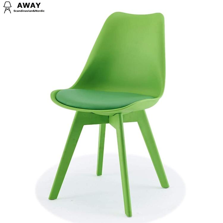 Full pp tulip dining chair in green