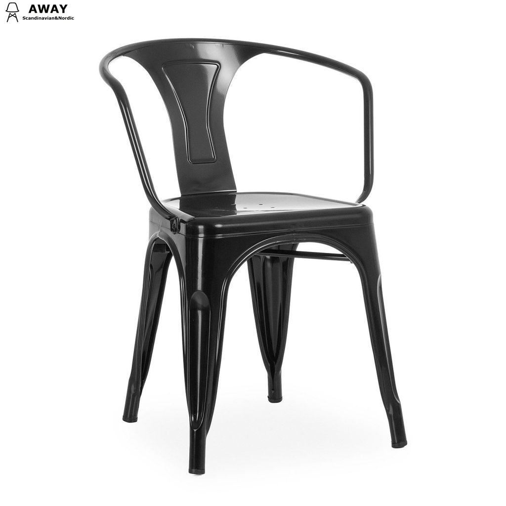 Xavier Pauchard Tolix Moskov Chair in black