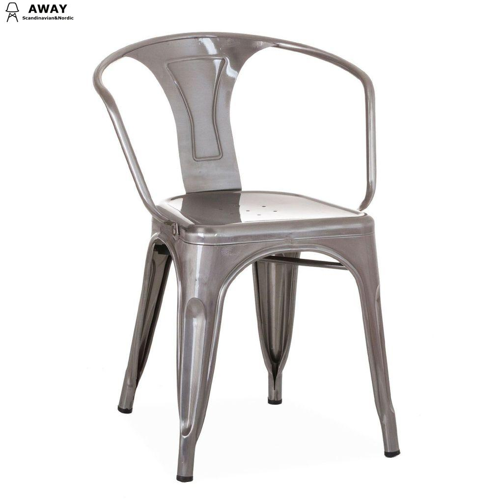 Xavier Pauchard Tolix Moskov Chair in brushed silver