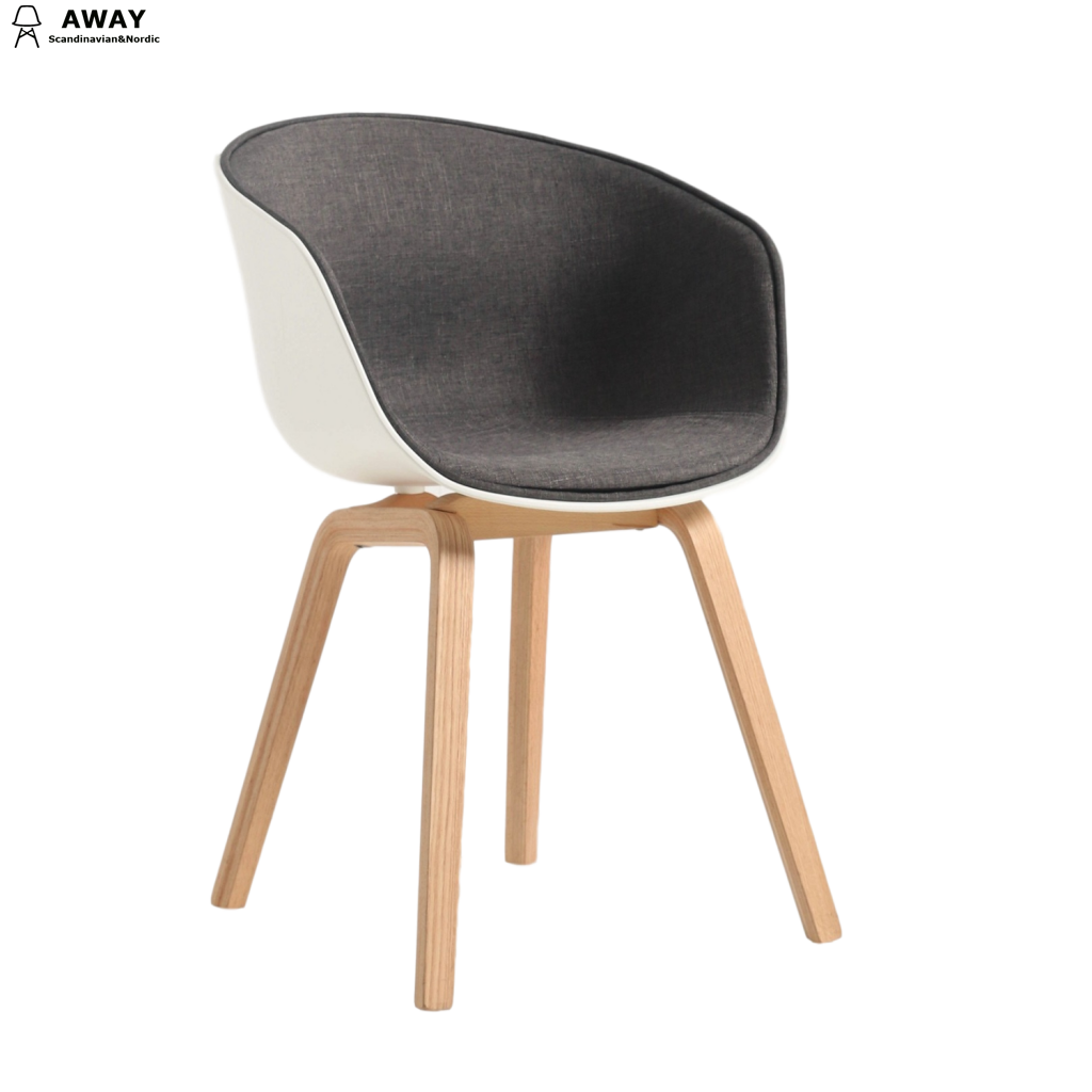Hay AAC22 Chair About A chair plastic and fabric covered seat dark gray
