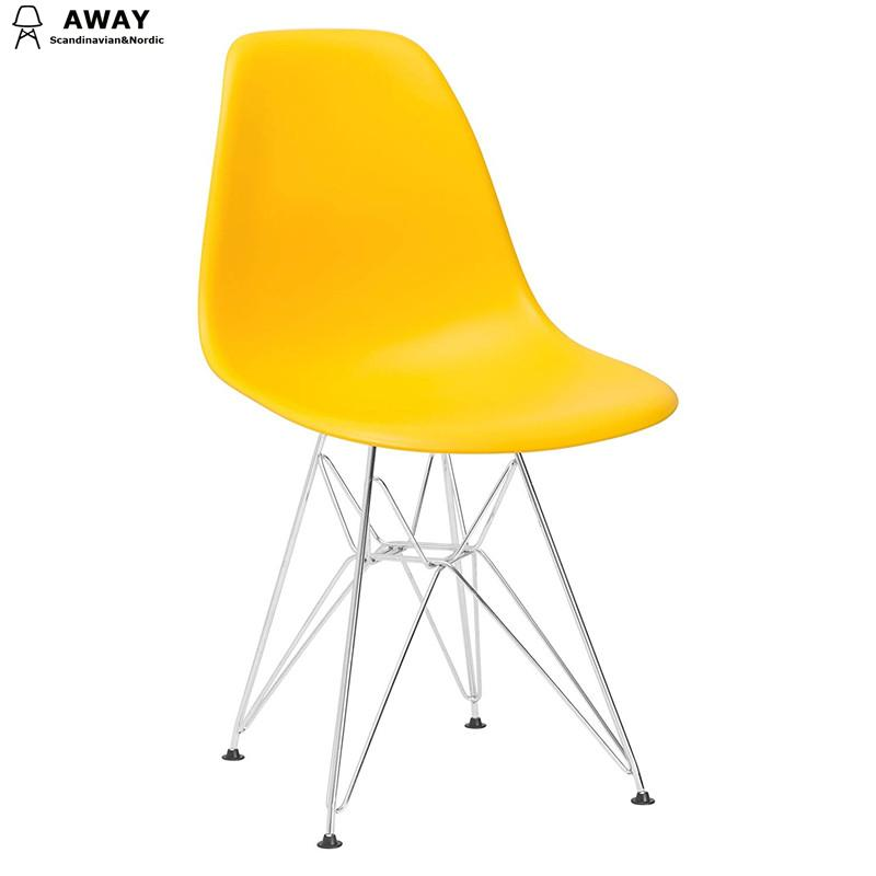 eames dsr chair yellow