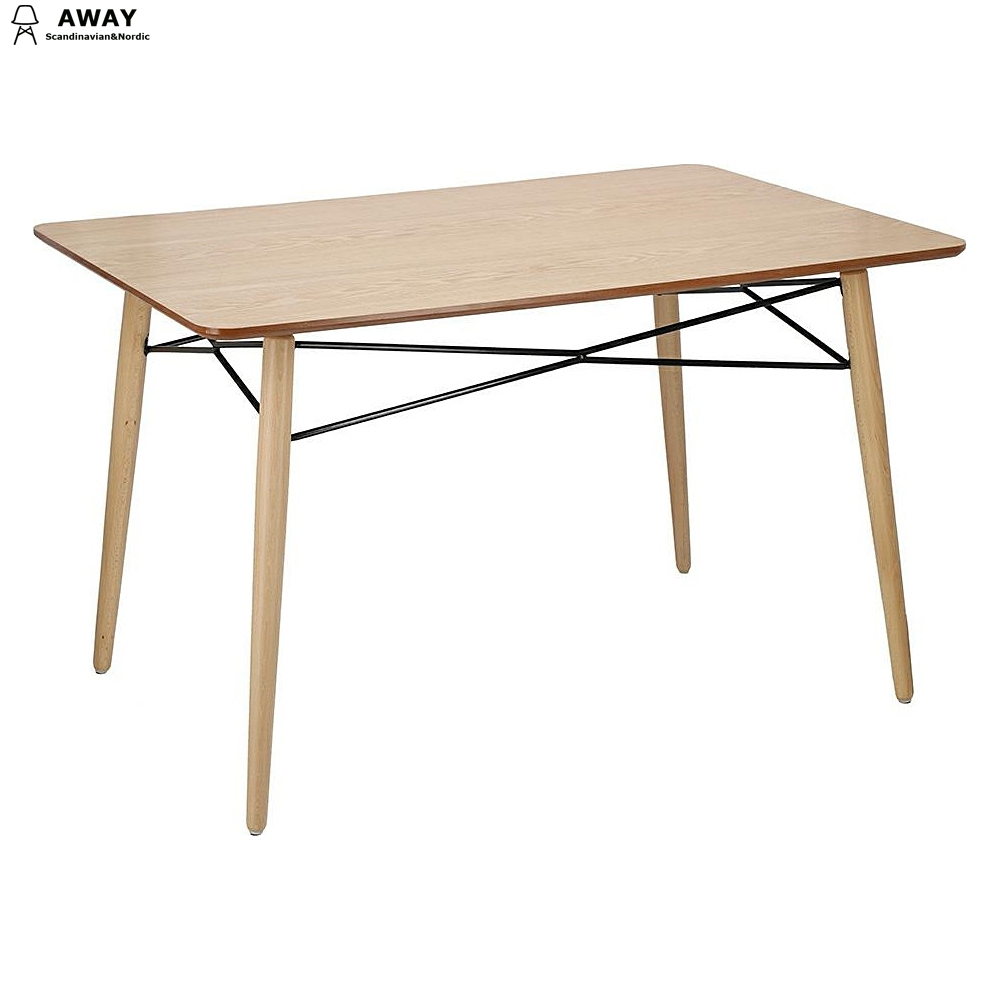 Beech wooden Scandinavian square dining table