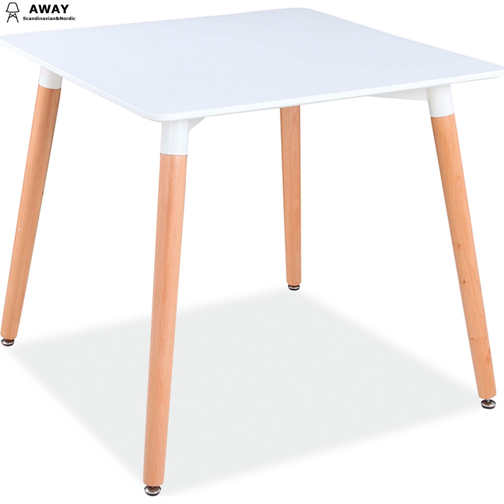 scandinavian design white MDF table